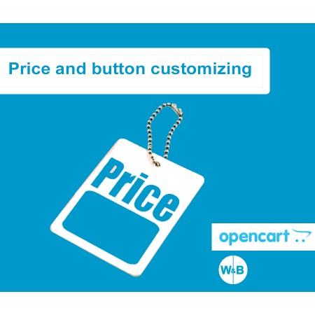 """Модуль """"Название цены и кнопки""""  для OpenCart"""