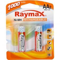 Батарейка аккумулятор Raymax HR6 1.2V 1000mAh Ni-MH AA blister/2pcs 583135