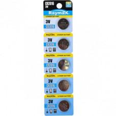 Батарейка литиевая  Raymax CR2016 3V blister card/5pcs 582954