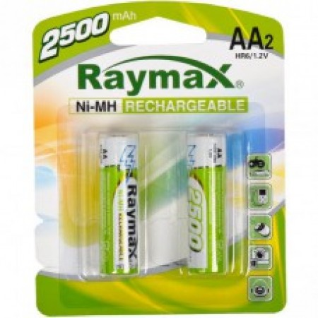 Батарейка аккумулятор Raymax HR6 1.2V 2500mAh Ni-MH AA blister/2pcs 583166