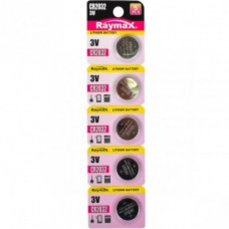 Батарейка литиевая  Raymax CR2032 3V blister card/5pcs 582961