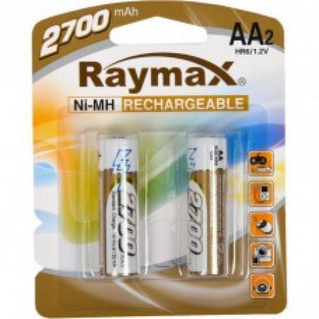 Батарейка аккумулятор Raymax HR6 1.2V 2700mAh Ni-MH AA blister/2pcs 583173