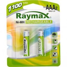 Батарейка аккумулятор Raymax HR03 1.2V 1100mAh Ni-MH AAA blister/2pcs 583104