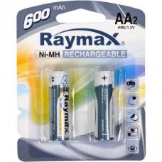 Батарейка аккумулятор Raymax HR6 1.2V 600mAh Ni-MH AA blister/2pcs 583111