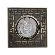 Светильник Feron 1008DL MR-11-S античное золото 17816