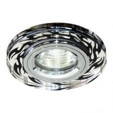 Светильник Feron 8015-2 серебро+черный хром 18872