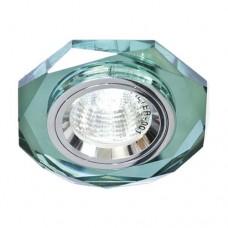 Светильник Feron 8020-2 зеленый серебро 20081